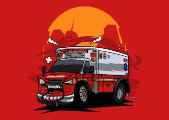 Ambulance monster car