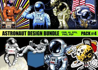 Astronaut T-shirt Designs Bundle Part 4