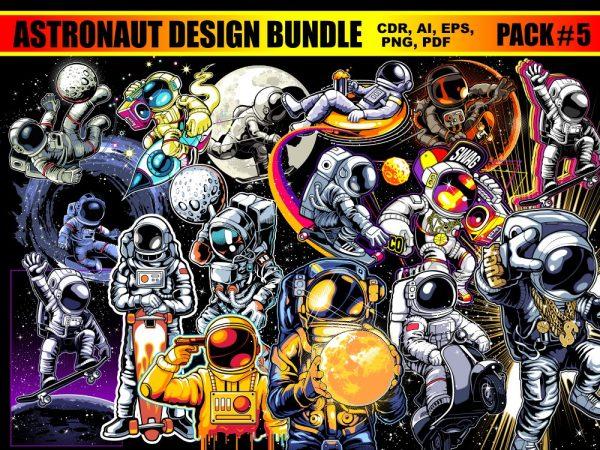 Astronaut T-shirt Designs Bundle Part 5