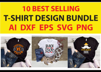 10 best selling t-shirt design bundle for commercial use.