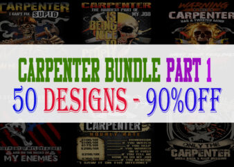 Carpenter Bundle Part 1 – 50 Designs – 90% OFF