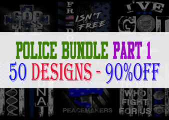 Police Bundle Part 1 – 50 Designs – 90%OFF