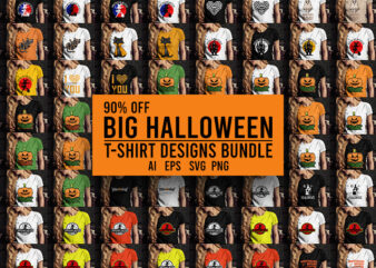 Big Halloween Bundle T-Shirt Design Bundle