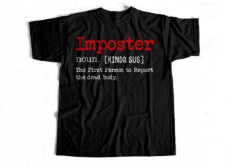 Imposter Definition T-Shirt design for sale