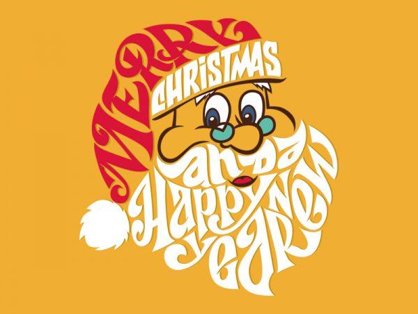 MERRY CHRISTMAS SANTA t shirt designs for sale