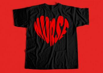 Nurse Love T shirt design for sale