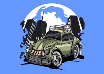 Old monster bug car