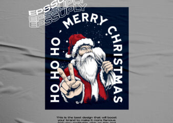 SANTAI CLAUSE MERRY CHRISTMAS TSHIRT DESIGN