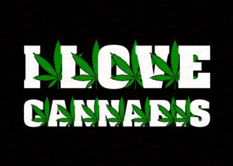 I love cannabis T-Shirt Design