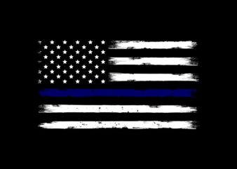 US Police Flag, thin blue line flag, blue line american flag t shirt sale