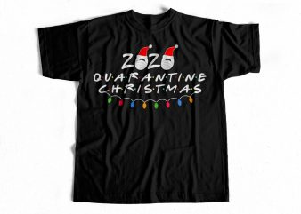 Quarantine Christmas T-Shirt design for sale