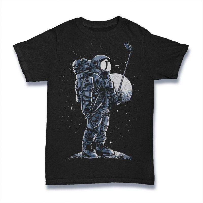 50 Astronaut Tshirt Designs Bundle