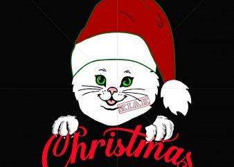 Kitten christmas t shirt template vector, Christmas Svg, Funny Christmas 2020 vector, Christmas quote vector, Noel scene Svg, Merry Christmas vector, Santa vector, Christmas vector, Merry Christmas vector,