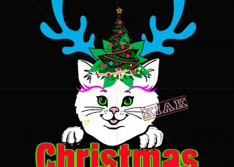 Kittens have horns like reindeer during Christmas, Kitten christmas svg, Kitten christmas vector, Kitten in reindeer christmas vector, merry christmas Kitten, Cat christmas vector, Cat reindeer christmas, Cat vector, Cat Svg, Kitten svg, Kitten vector, Christmas svg, Christmas vector, Merry christmas png, vector, Eps, Dxf, Png, Ai, Svg file