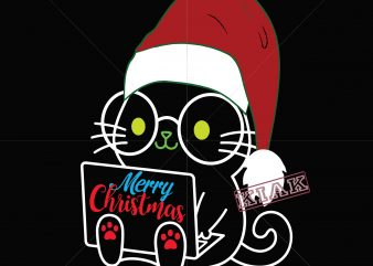 Christmas in cat with glasses vector, Cat logo, cat nerd vector, kitten vector, nerd cat svg, cat with glasses svg, cat cute svg, kitty svg, kitten svg, pet face svg
