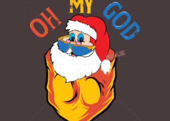 Oh my god help Santa claus, Pocket Santa claus tshirt svg, Pocket Santa claus funny vector, Funny Santa claus vector, Santa claus Hiding in Pocket, Santa claus lover print gift for Santa claus lover files for Silhouette and Cutting Santa claus Svg