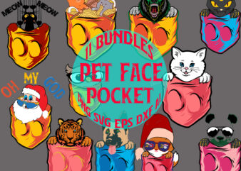 11 Pocket Bundles santa claus fox bears cat dog… funny, 11 bundle funny designs funny tshirts pocket, design stef marie summer designs, pet Hiding in Pocket, Pocket pet in christmas tshirt svg