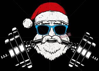 Santa who works out for Christmas 2020 vector, Santa claus gymnastics for Christmas 2020 t shirt template vector, Merry Christmas, Christmas, Christmas 2020 Svg, Funny Christmas 2020