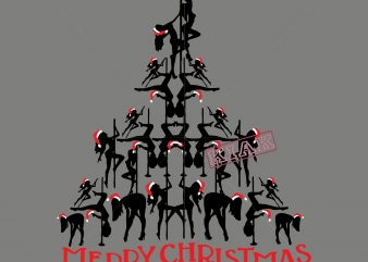 Girls pole dancing forming a Christmas tree in Christmas 2020 vector t shirt template vector, Merry Christmas, Christmas, Christmas 2020 Svg, Funny Christmas 2020, Christmas quote vector, Christmas Tree logo, Noel scene Svg