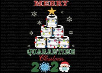 Merry Quarantine Christmas 2020 svg, Quarantine Christmas Toilet Paper Tree svg, Christmas Toilet Paper Tree svg, Toilet Paper Tree 2020 svg