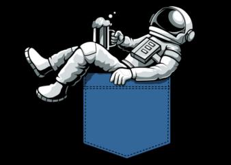 Astronaut in pocket