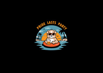 Pride Lasts Party vector t-shirt design