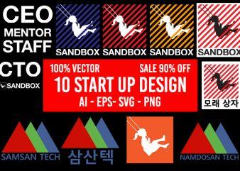 10 Startup design Bundle AI EPS SVG PNG