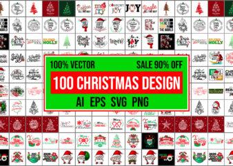 100 Christmas Design 100% vector AI, EPS, SVG,