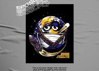 2020 earth time in quarantine tshirt design