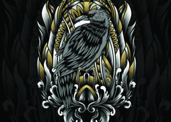 bird engraving frame
