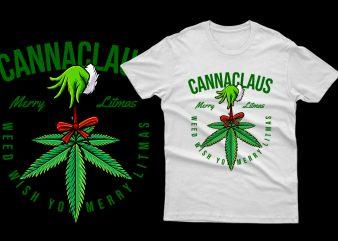 Canna Claus cannabis weed marijuana parody 100% Vector