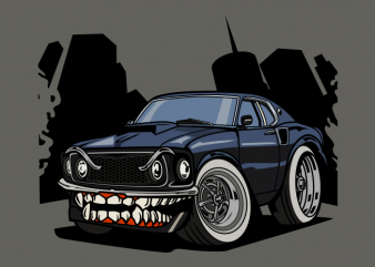 Monster muscle car