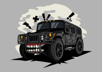 Off road black monster car