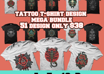tattoo tshirt design mega bundle