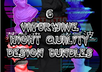 6 vaporwave hight quality design bundles