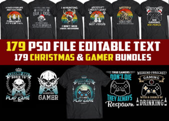 179 christmas template and gamer Bundles psd file editable text png transparent