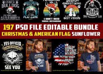 197 christmas and american flag sunflower Bundles