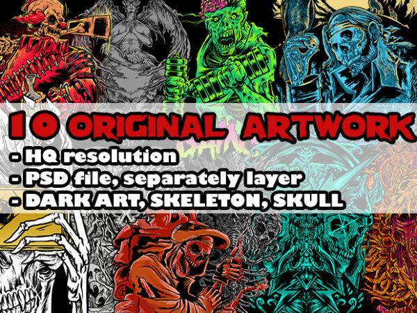 Dark ART original artwork t shirt vector illustration