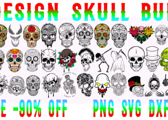 Skull bundle t shirt design, Bundle Skull, Bundles Skull vector