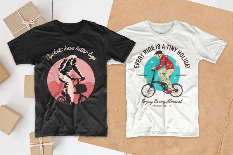 bicycle t shirt design bundle, Bike t shirt design slogan quotes pack collection bundles, Bike t-shirt designs silhouettes, Mountain bike t shirt design, EPS PSD SVG PNG