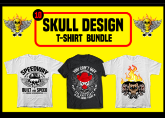 Best selling Skull design. t-shirt bundle