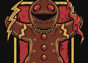 Spooky Cookies Happy Christmas T-Shirt Design