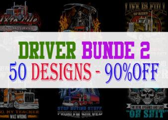 DRIVER BUNDLE PART 2 – 50 Designs -90% OFF
