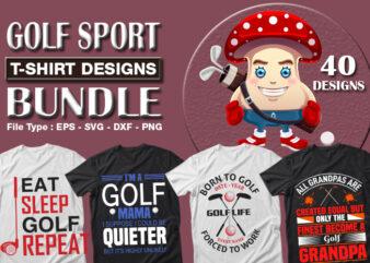 Best Selling 40 Golf Sport T-shirt Designs Bundle