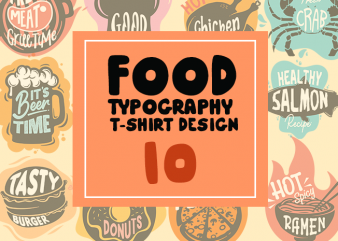 Food Typography T-shirt Design 10