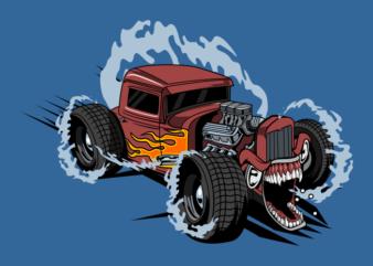 Hot road monster car