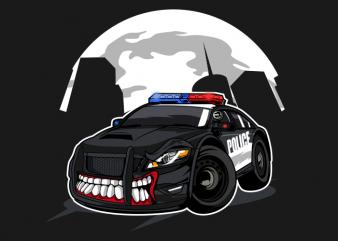 Police monster car