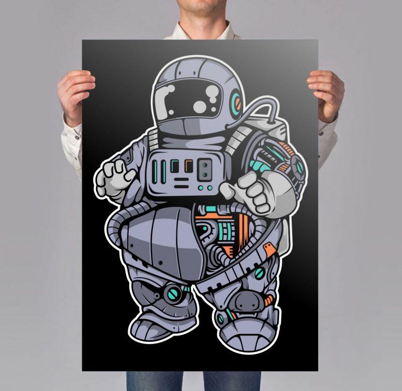 50 Astronaut Cartoon Designs Bundle #3