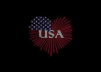 Love USA, I Love USA, I love america – we love USA – american t shirt design for sale