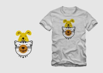 AvoCatDog t shirt design, cat and dog t shirt design, avocado t shirt design sale